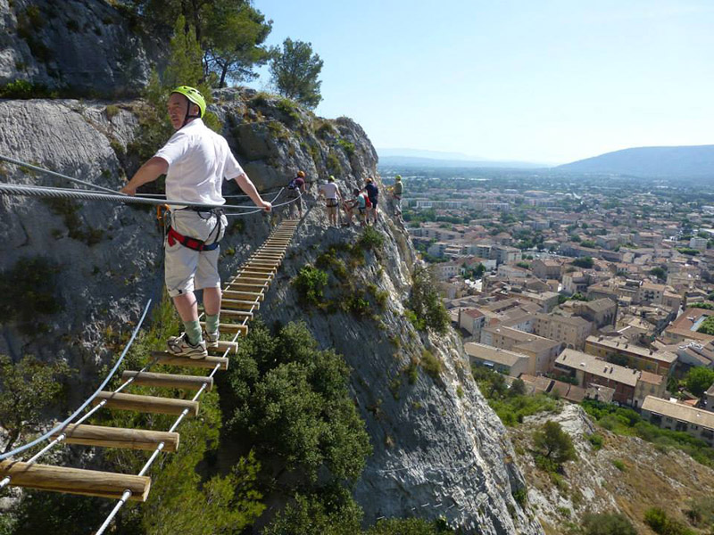 Via ferrata of Cavaillon